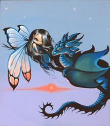 Art: Blue and Fairy by Artist Nico Niemi