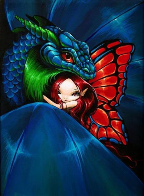 Art: Fairy Dragon by Artist Nico Niemi