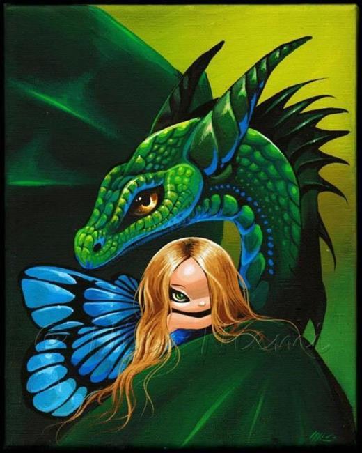 Art: Fairy's Green Dragon by Artist Nico Niemi