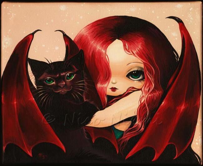 Art: Sweetly Dark Pair by Artist Nico Niemi