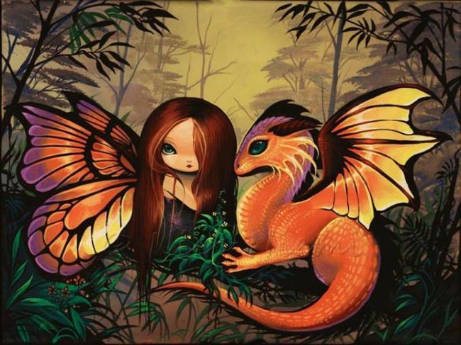 Art: Brightly Colored Pair by Artist Nico Niemi