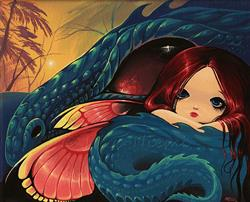 Art: Dragon Fairy Sunset by Artist Nico Niemi