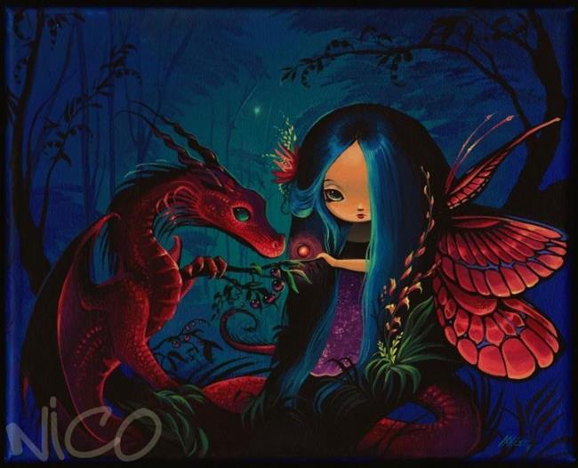 Art: Magical Evening Pair by Artist Nico Niemi