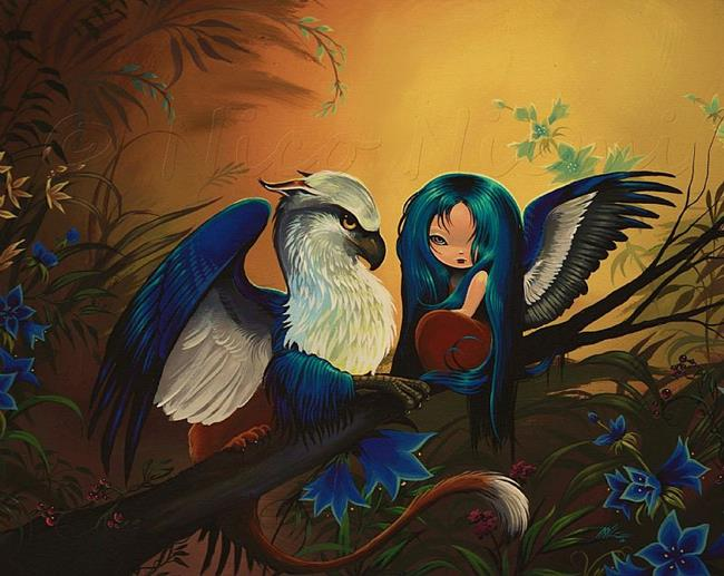 Art: Feathered Forest Companions by Artist Nico Niemi