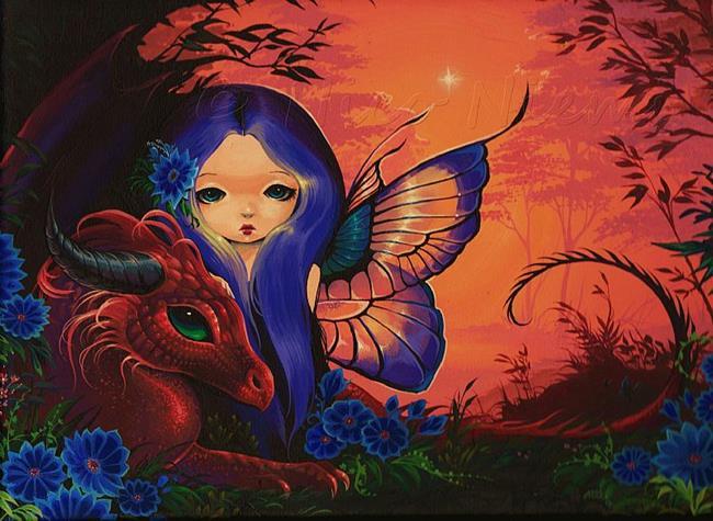 Art: My Green-Eyed Dragon by Artist Nico Niemi