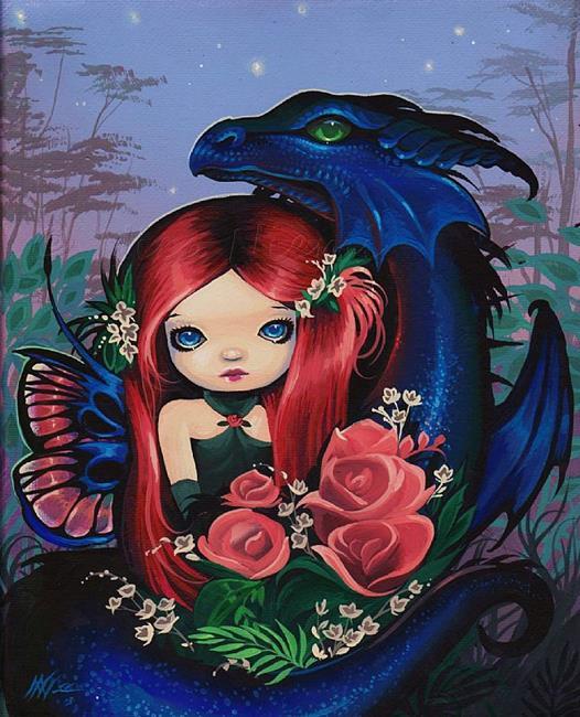 Art: Dragons Fairy Rose by Artist Nico Niemi