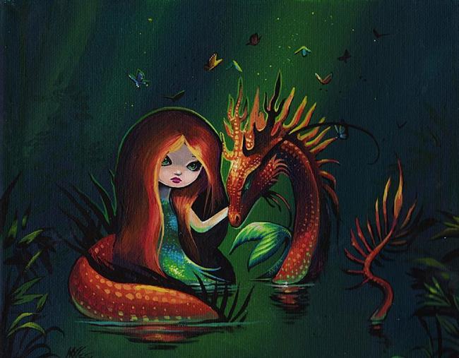 Art: Mermaid and River Dragon by Artist Nico Niemi