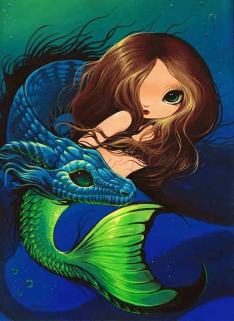 Art: Little Mermaid and Sea Dragon by Artist Nico Niemi