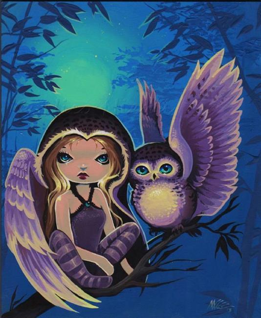 Art: Soft Wings of Night by Artist Nico Niemi