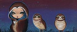Art: With Burrowing Owls by Artist Nico Niemi