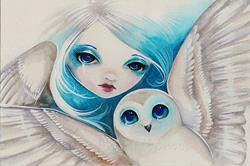 Art: Owl Light by Artist Nico Niemi