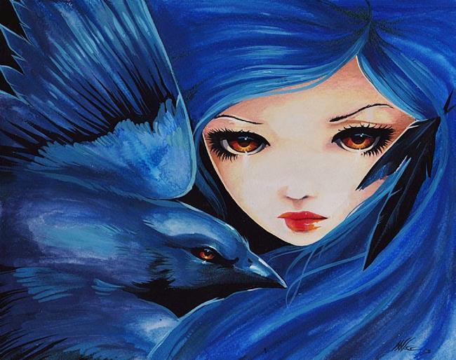 Art: Amber Eyes by Artist Nico Niemi