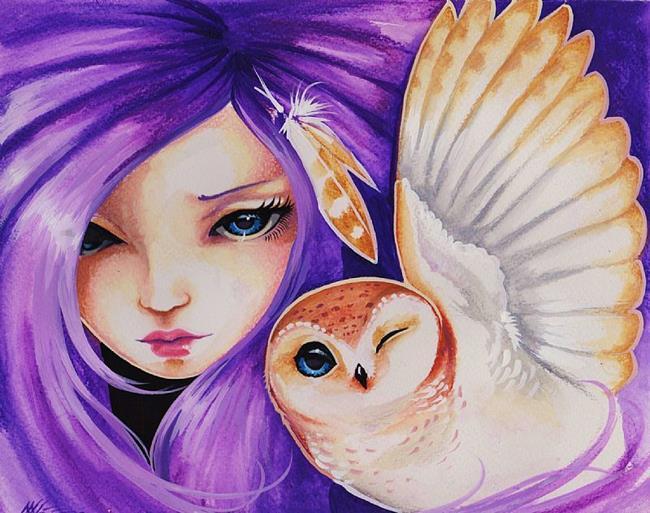 Art: Sky-Blue Eyes by Artist Nico Niemi