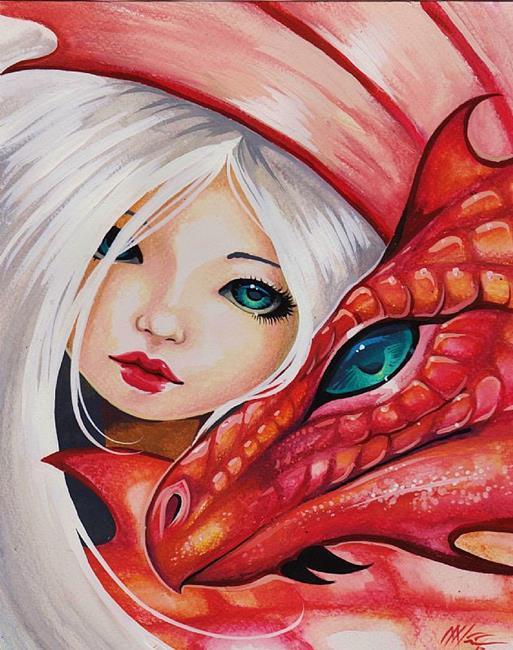 Art: My Teal-Eyed Dragon by Artist Nico Niemi