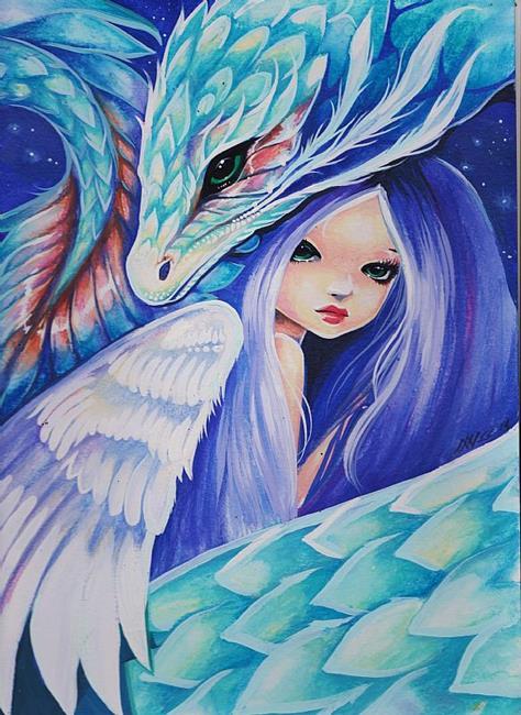 Art: Heavenly Pair by Artist Nico Niemi
