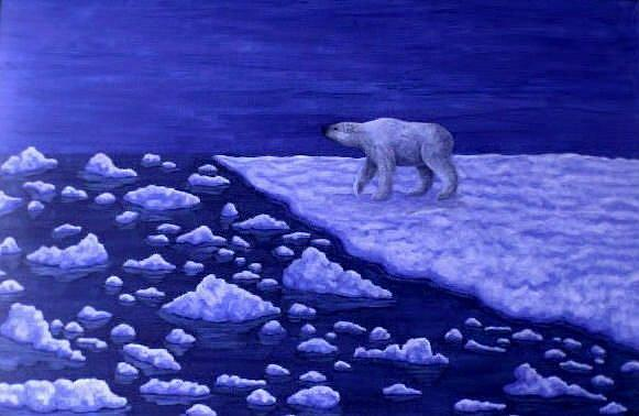 Art: Ice Bear (SOLD) by Artist Jackie K. Hixon