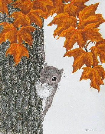 Art: Peek-a-Boo (SOLD) by Artist Jackie K. Hixon