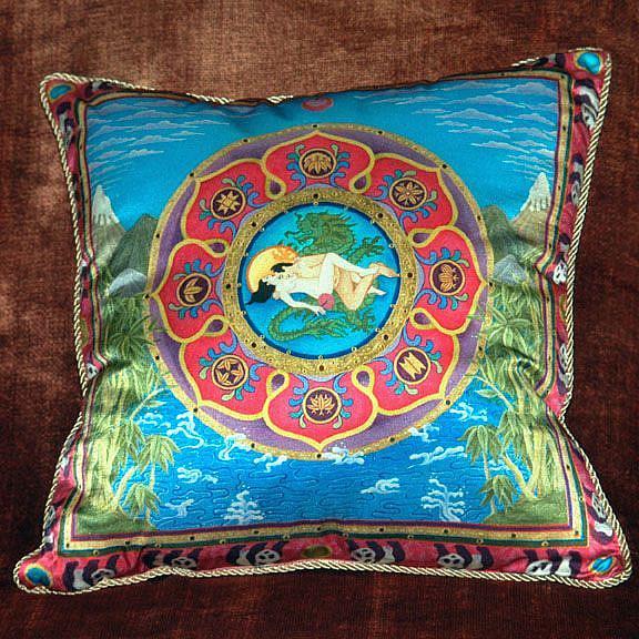 Art: Mandalas on Pillows of Silk by Artist Nadean O'Brien