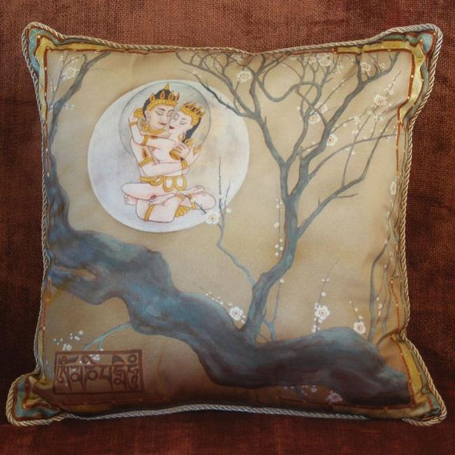 Art: Buddha's Dream Silk Pillow by Artist Nadean O'Brien