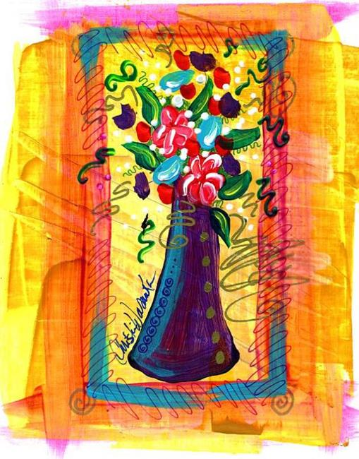 Art: Tiny Florals ~ 5 by Artist Christine Wasankari