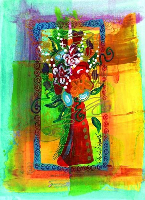 Art: Tiny Florals ~ 7 by Artist Christine Wasankari