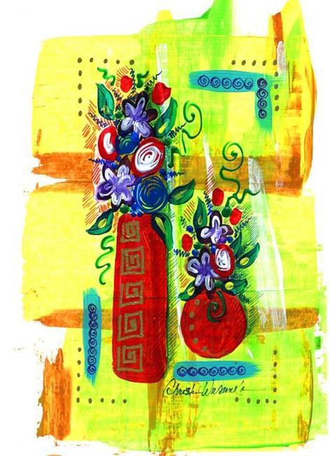 Art: Tiny Florals ~ 9 by Artist Christine Wasankari