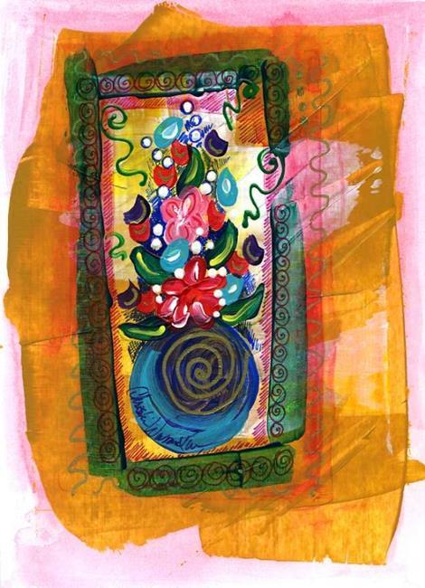 Art: Tiny Florals ~ 10 by Artist Christine Wasankari