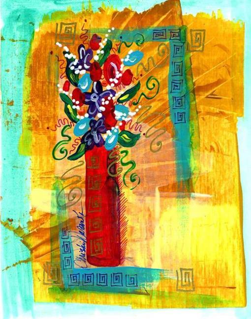 Art: Tiny Florals ~ 6 by Artist Christine Wasankari
