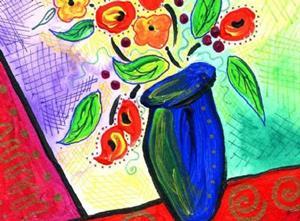 Detail Image for art Blue Vase