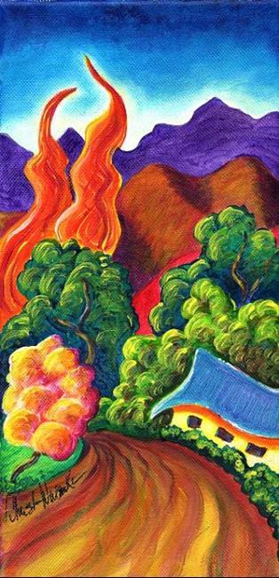 Art: Seco Arroyo ~ High Road Series by Artist Christine Wasankari