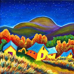 Art: Ranch House Del Norte' by Artist Christine Wasankari