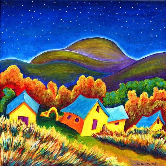 Art: Ranch House Del Norte' by Artist Christine Wasankari
