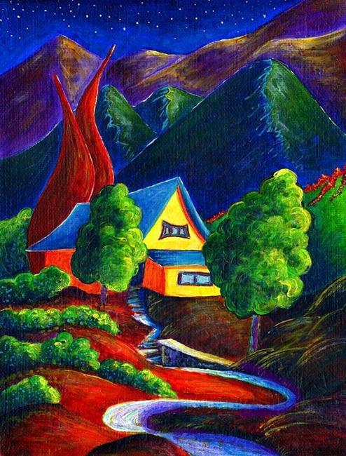 Art: Panorama House by Artist Christine Wasankari