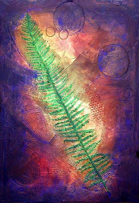 Art: Sword Fern Marine ~  From the Impressions Series by Artist Christine Wasankari