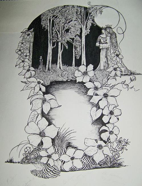 in the clearing by marcine marcy dillon from pen ink art exhibit
