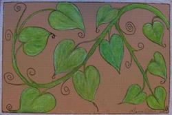 Art: Philodendron by Artist Marcine (Marcy) Dillon