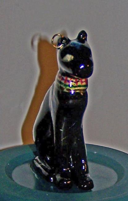Art: Egyptian Relic of Bastet by Artist Marcine (Marcy) Dillon