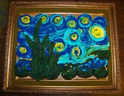 Art: Starry Night cupcakes by Artist Marcine (Marcy) Dillon