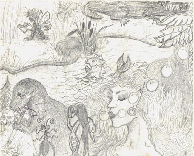 Art: Journal - fantasy idea's by Artist Marcine (Marcy) Dillon
