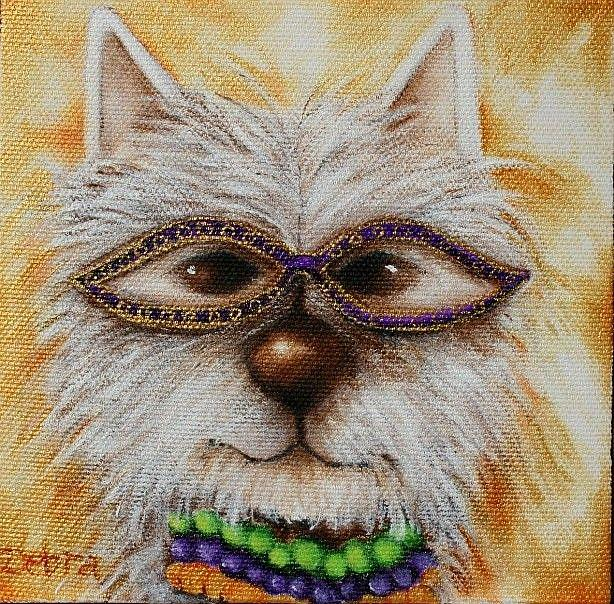 Art: Mardi Gras Pet 3 by Artist Deb Harvey