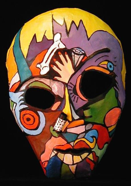 Art: FRANKEN - DRAC MASK by Artist Jen Thario
