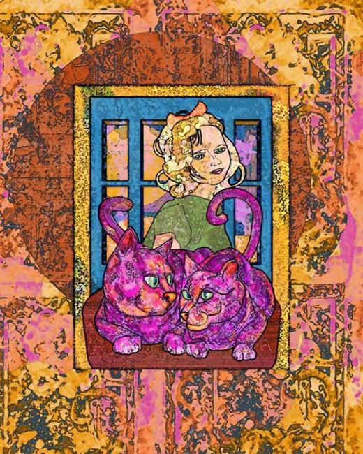Art: Glimmering Girl by Artist Mary Ogle
