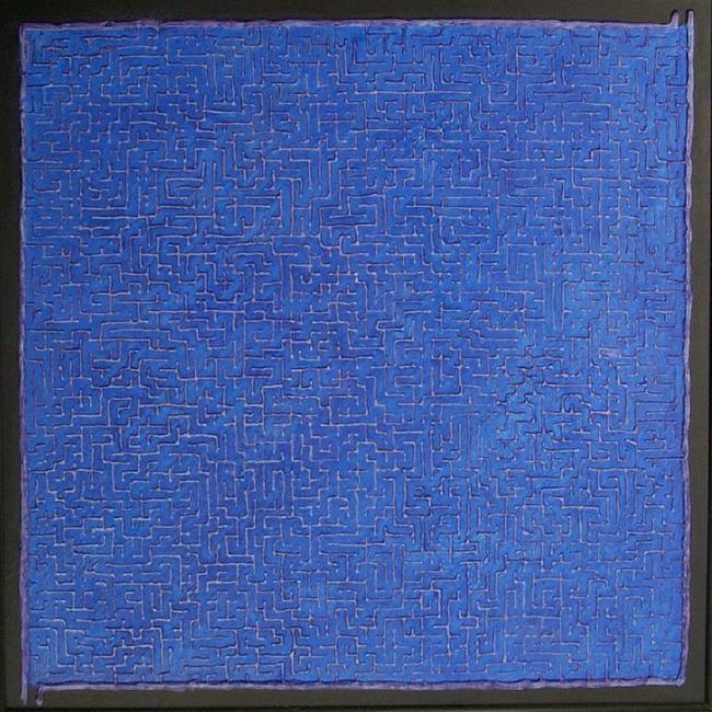 Art: Blue Labyrith by Artist Bill Gillingham