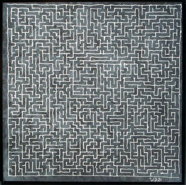 Art: Grey Maze by Artist Bill Gillingham