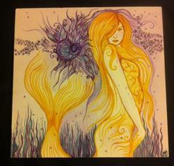Art: November Mermaid by Artist Carole Anzolletti