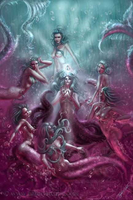 Art: Seven Sirens and the Silver Tear by Artist Tiffany Toland-Scott