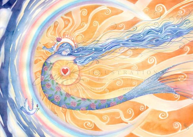 Art: Embracing Love by Artist Sara Burrier