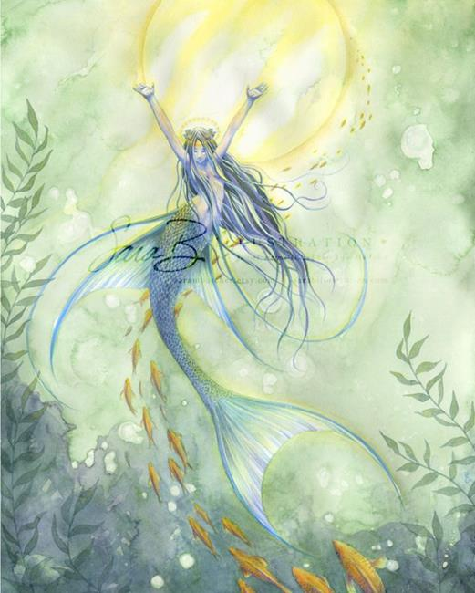Art: Angel Fish by Artist Sara Burrier