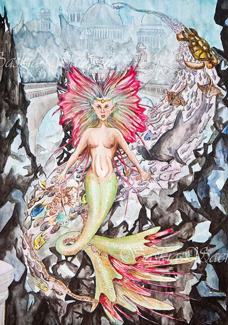 Art: Siren's Spell by Artist Saskia Franken-Saers