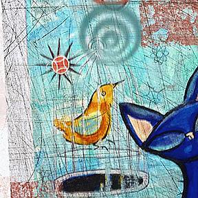Detail Image for art Black Cat named Blue: the digital version
